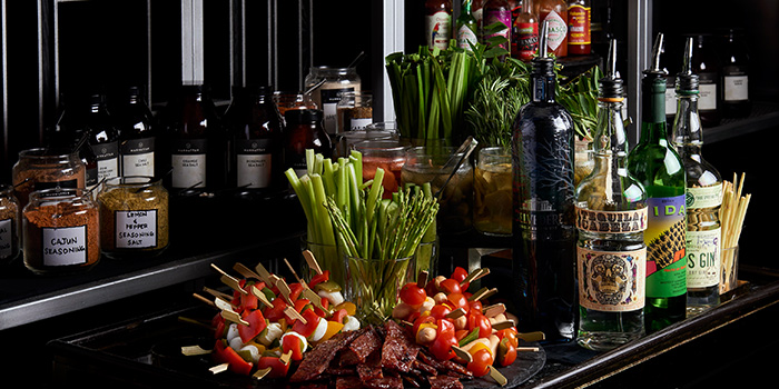 Bloody Mary Brunch Station from Manhattan in Regent Singapore, Tanglin, Singapore