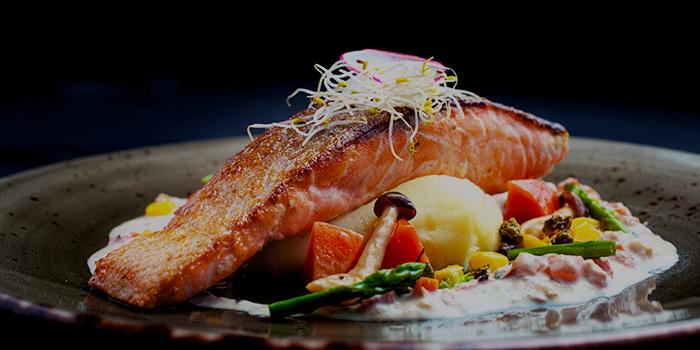 Pan Seared Salmon from 5 Senses Bistro (The Star Vista) in Buona Vista, Singapore
