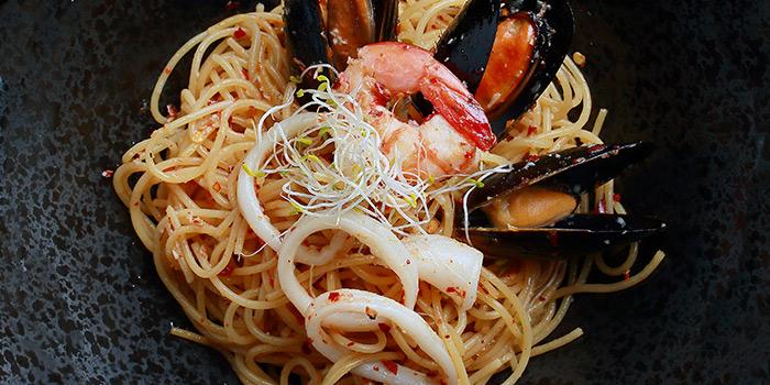 Seafood Aglio Olio from 5 Senses Bistro (The Star Vista) in Buona Vista, Singapore