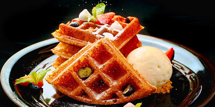 Waffle from 5 Senses Bistro (The Star Vista) in Buona Vista, Singapore