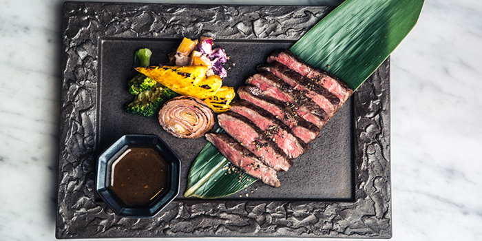 Wagyu with Black Pepper Red Miso Sauce from Bincho at Hua Bee in Tiong Bahru, Singapore
