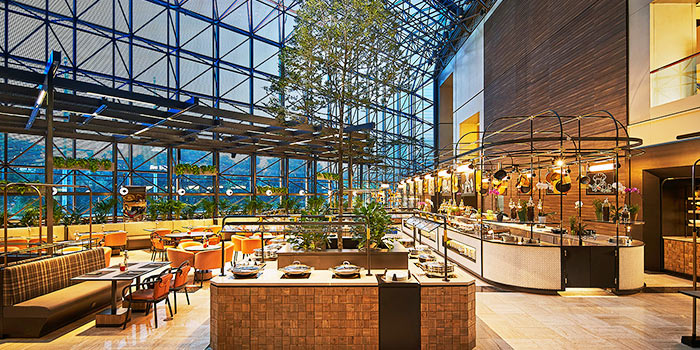 Interior of Clove at Swissotel The Stamford in City Hall, Singapore