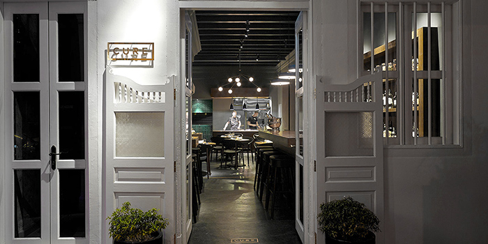 Exterior of Cure Singapore on Keong Saik Road, Singapore