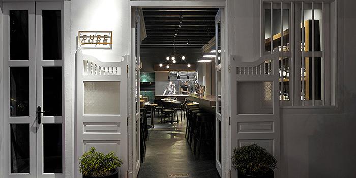 Exterior of Cure Singapore on Keong Saik Road, Singapore