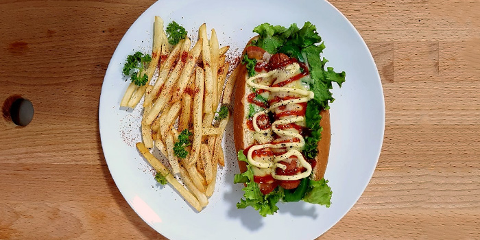 Hotdog from De Dimension in Hougang,  Singapore