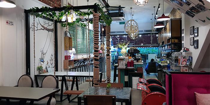 Interior of Good Old Days Bistro in Bugis, Singapore