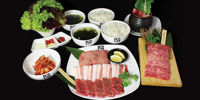Premium Set from Gyu-Kaku (Waterway Point) in Punggol, Singapore