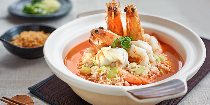 King Prawns and Fragrant Rice in Rich Seafood Broth from JUMBO Seafood (Jewel Changi Airport) in Changi, Singapore