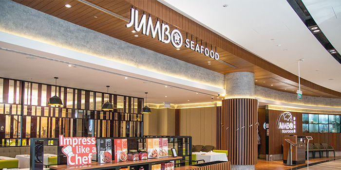 Storefront of JUMBO Seafood (Jewel Changi Airport) in Changi, Singapore