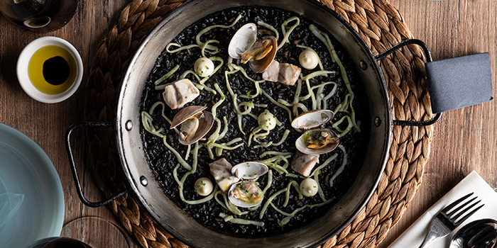Squid Ink Paella from La Cala at DUO Galleria in Bugis, Singapore