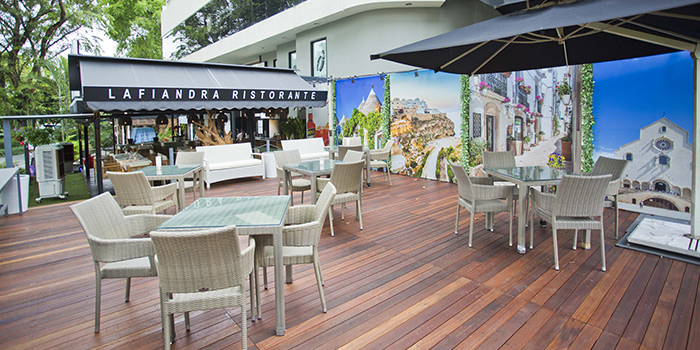 Exterior of Lafiandra Ristorante in Orchard, Singapore