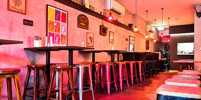 Interior of One 2 Drink in Lavender, Singapore