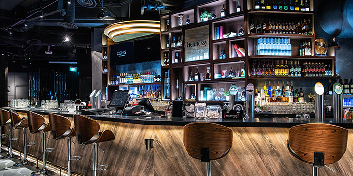 Bar at PONG Singapore in Clarke Quay, Singapore