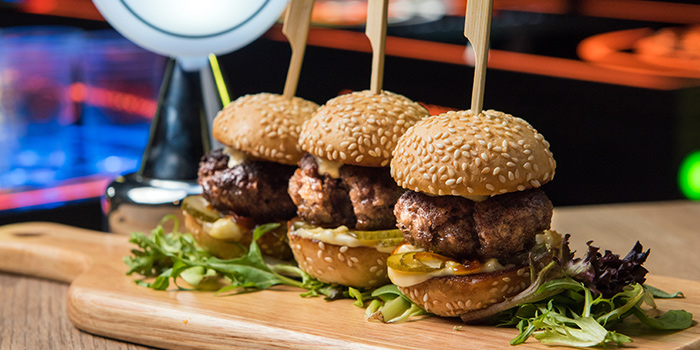 Sliders from PONG Singapore in Clarke Quay, Singapore