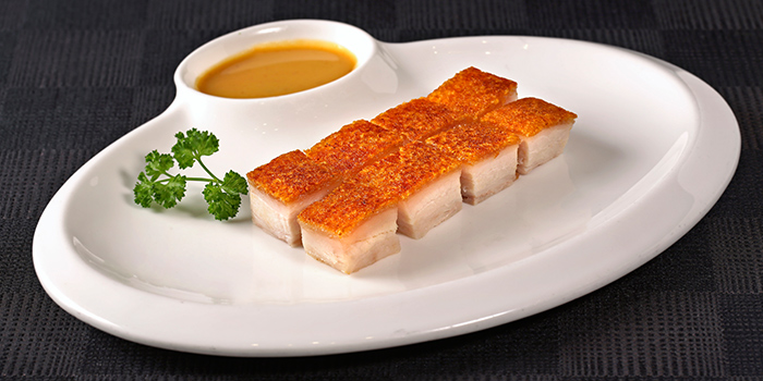 Roasted Crispy Pork Cube from Peach Garden (Changi Airport T2) in Changi, Singapore