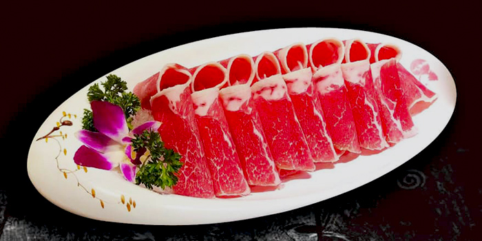 Beef Slices from Spice World Hotpot in Clarke Quay, Singapore
