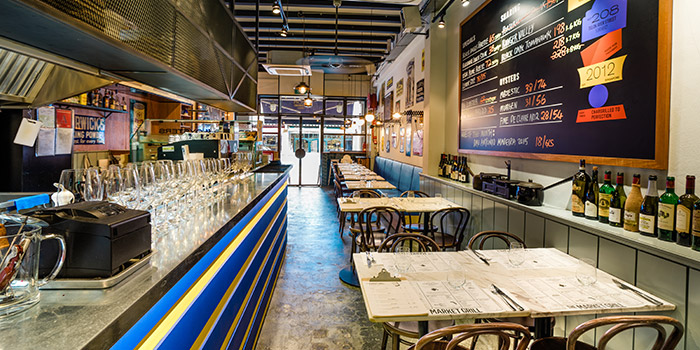 Interior of The Market Grill at Telok Ayer in Raffles Place, Singapore