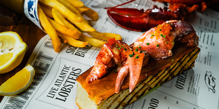 Lobster Roll from The Market Grill at Telok Ayer in Raffles Place, Singapore