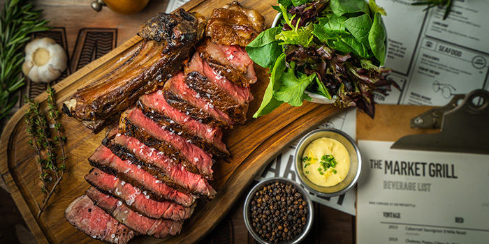 Steak from The Market Grill at Telok Ayer in Raffles Place, Singapore