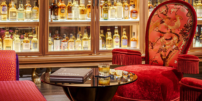 Interior of The Whiskey Library @ The Vagabond Club in Jalan Besar, Singapore