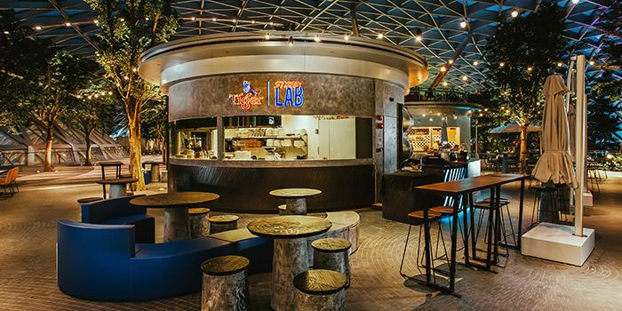 Exterior of Tiger Street Lab at Jewel Changi Airport in Changi, Singapore