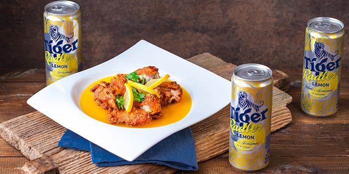 Tiger Radler Lemon Chicken Chop from Tiger Street Lab at Jewel Changi Airport in Changi, Singapore