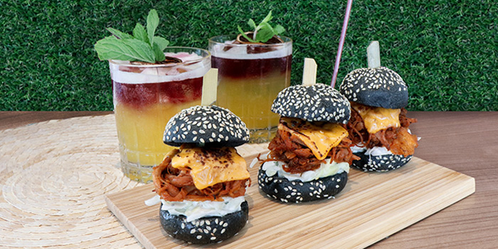 Sangria & Pulled Pork Slider from Urbana Rooftop Bar at Courtyard by Marriott Singapore in Novena, Singapore