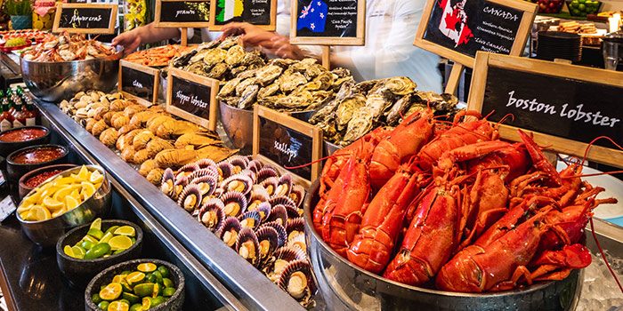 Eat-Drink-Brunch-Repeat Seafood Station at Oscar