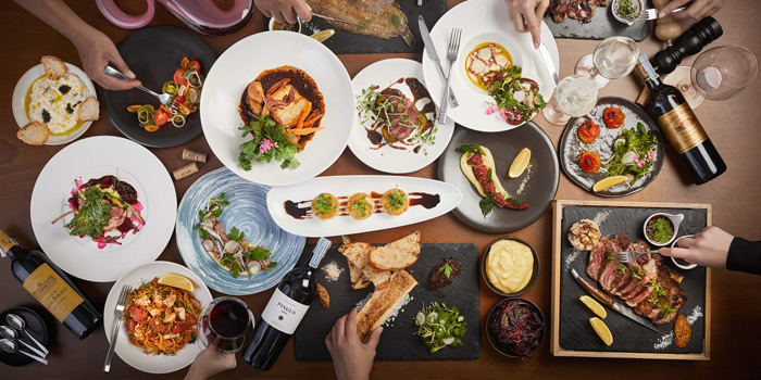 Selection of Food from Riedel Wine Bar & Cellar at Gaysorn Village, Bangkok