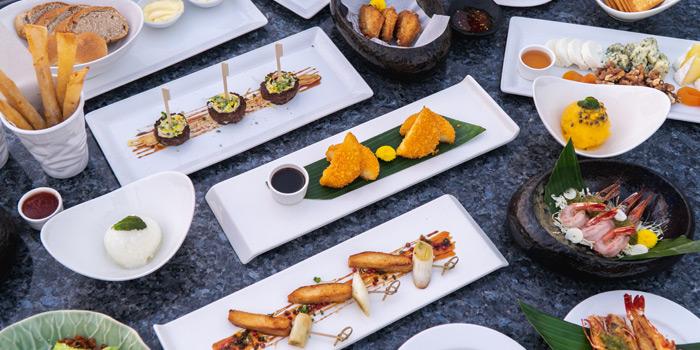 Selection of Food from The Roof Gastro at Siam@Siam Design Hotel Bangkok 865 Rama 1 Road Wang Mai, Patumwan Bangkok