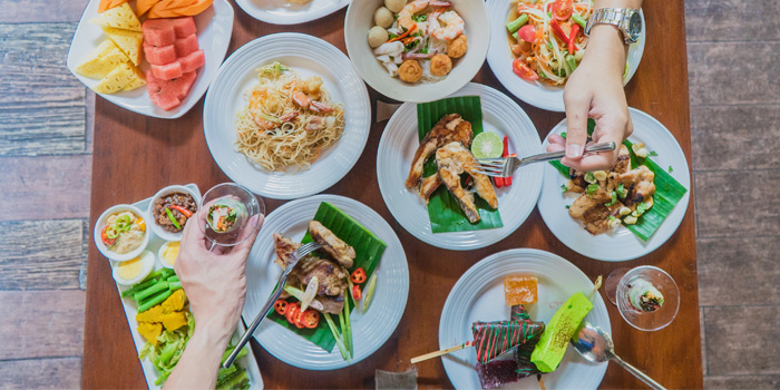 Selection of Food from Party House One at Siam@Siam Design Hotel Bangkok 865 Rama 1 Road Wang Mai, Patumwan Bangkok