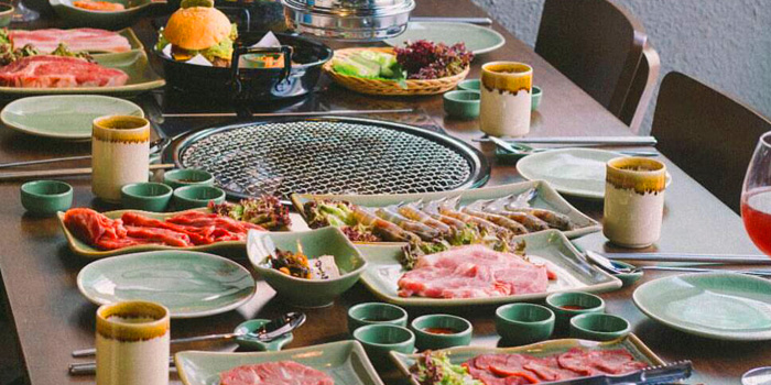 Selection of Food from Banjoo BBQ at Mille Malle 2nd Fl 66/4,201 Sukhumvit 20 Alley, Khlong Toei Bangkok