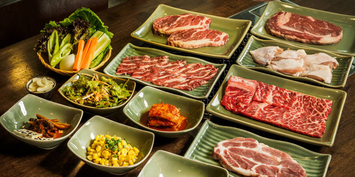 Selection of Meat from Banjoo BBQ at Mille Malle 2nd Fl 66/4,201 Sukhumvit 20 Alley, Khlong Toei Bangkok