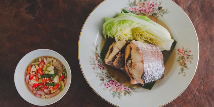Steam Fish from Bangkok Bold Kitchen at Riverside Plaza Room 257/6, Fl 2, Charoennakorn Rd Samre, Thonburi Bangkok