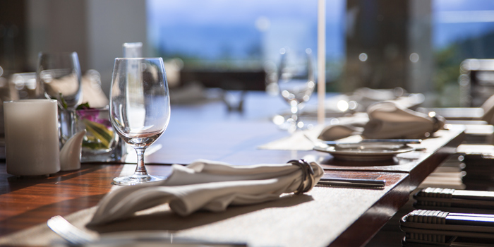 Table Setting of Vista Restaurant in Patong, Phuket, Thailand