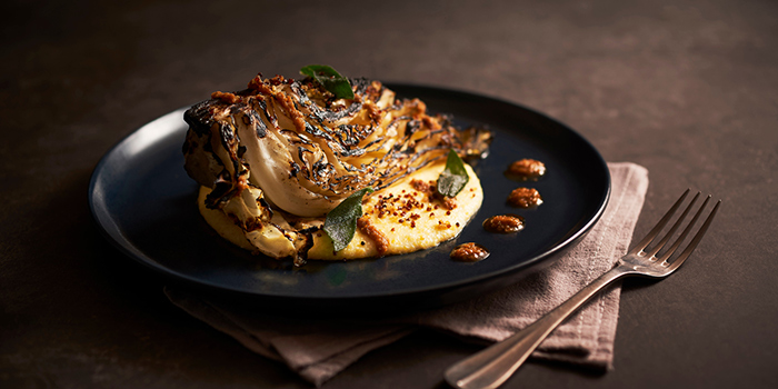 Charred Sugarloaf Cabbage from The Black Swan at Cecil Street in Raffles Place, Singapore