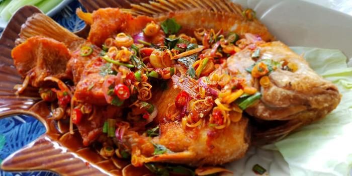 Tub-Tim-Krob-Yum-Ta-Krai from Fish Bar & Restaurant in Rawai, Phuket, Thailand
