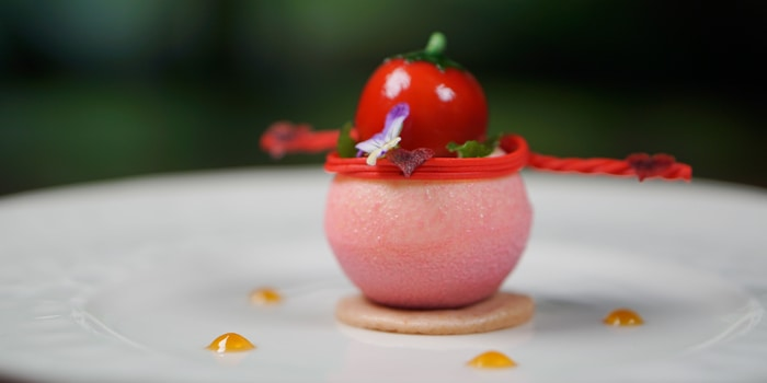 Strawberry Sphere Delight at Kubu, Bali