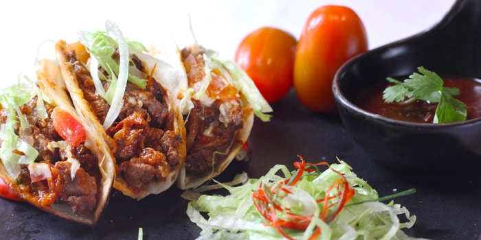 Wagyu Tacos at La Vue Rooftop Bar by The Hermitage Jakarta