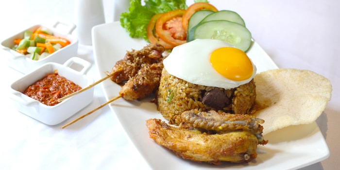 Nasi Goreng Wagyu at La Vue Rooftop Bar by The Hermitage Jakarta