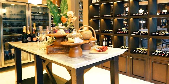 Wine Room of Brasserie 9 at 27 Soi Piphat North Sathorn Road, Silom Bang Rad, Bangkok