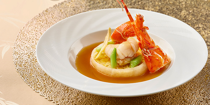 Wok-fried Rice with Lobster and Ginger Spring Onion from Hai Tien Lo in Pan Pacific Singapore in Promenade, Singapore