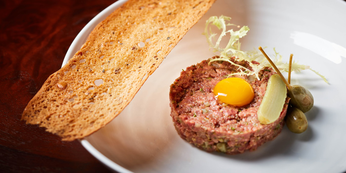Beef Tartare from Bull & Bear at Waldorf Astoria Bangkok Lower Lobby, 151 Ratchadamri Road Bangkok