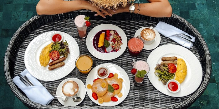 Floating Breakfast from Senja Bar, Ubud, Bali