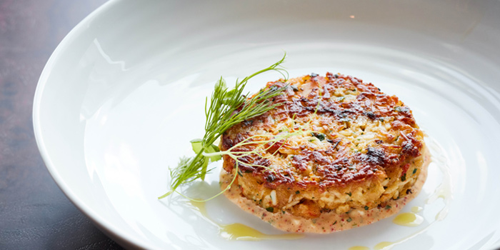 Jumbo Crab Cake from Bull & Bear at Waldorf Astoria Bangkok Lower Lobby, 151 Ratchadamri Road Bangkok