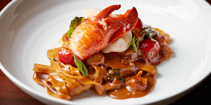 Lobster Tagliatelle from Bull & Bear at Waldorf Astoria Bangkok Lower Lobby, 151 Ratchadamri Road Bangkok