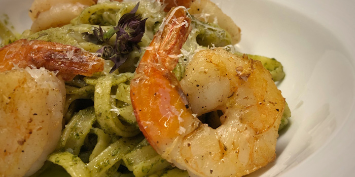 Pasta Pesto with Jumbo Prawn from Lick Lips Bistro x Grill Bar at 379/8 Sukhumvit 63, Ekkamai Rd Khlongton Nua, Wattana Bangkok