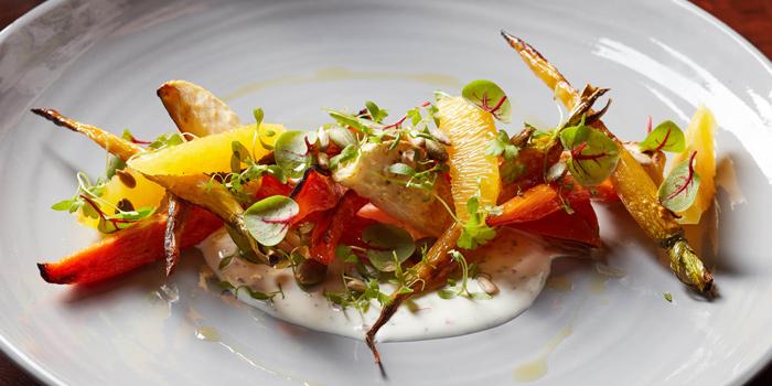 Roasted Carrot Salad from Bull & Bear at Waldorf Astoria Bangkok Lower Lobby, 151 Ratchadamri Road Bangkok