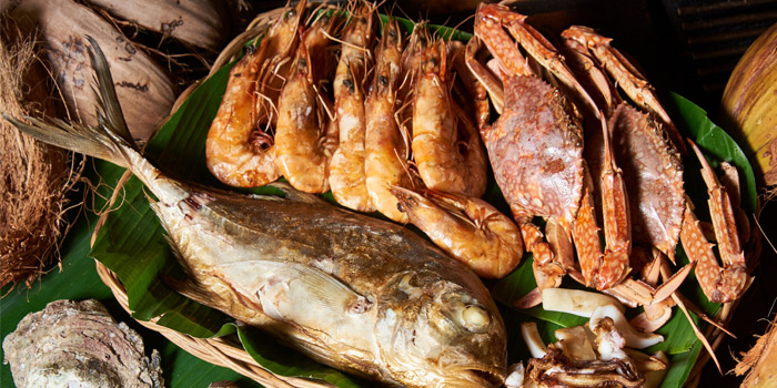 Seafood from Kan Eang@pier in Chalong, Phuket, Thailand