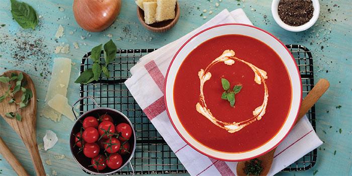 Tomato Soup at Cosmic Diner Sanur Arcade